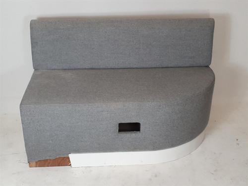 Grey Fabric Sofa Unit RH End Piece (89F-4CC-22C)