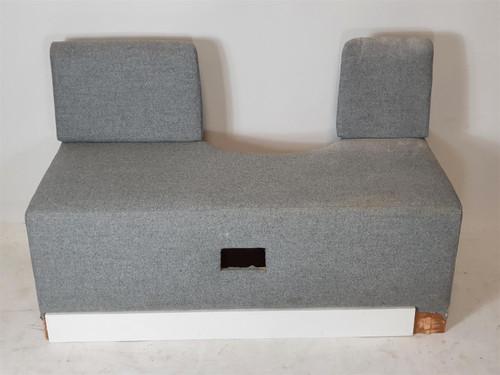 Grey Fabric Sofa Unit Middle Piece with Round Gap (097-882-59F)