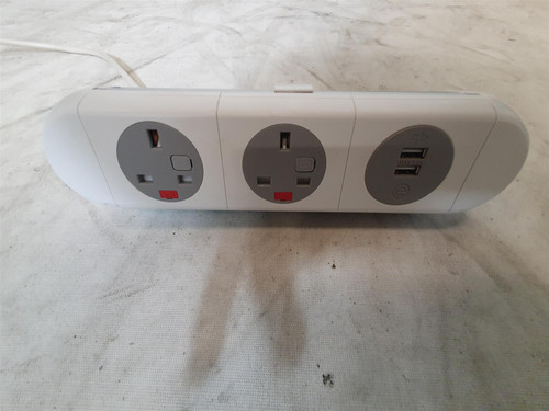 White 2 Port Powerboard with Female Connector (97D-AF1-577)
