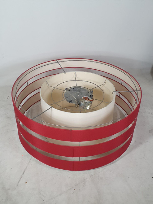 RVL 3 Ring Red and White Ceiling Lampshade (392-DE8-74B)
