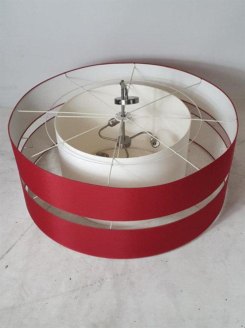 RVL 2 Ring Red and White Ceiling Lampshade (6D8-E19-211)