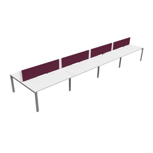 White 8 Person Bench System Desk (E65-B4C-137)