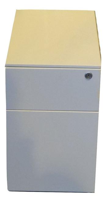 Herman Miller Glossy White Slimline Metal 2 Drawer Pedestal (HM1-SLMGLOSS)