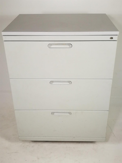 White Metal 3 Drawer Storage Unit (BB7-D98-37E)