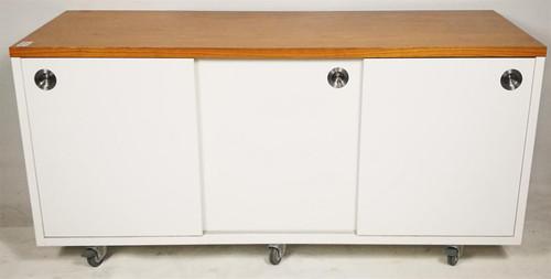 White Wooden Portable Storage Unit (64A-45A-054)