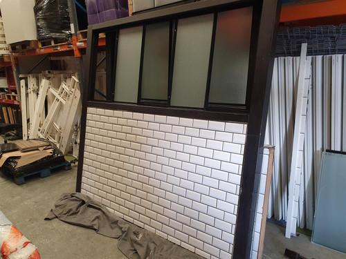 Glass and Tile Room Divider (87E-AFC-8E8)
