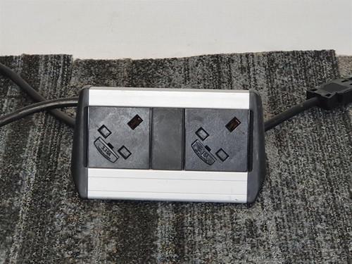 Grey and Black 2 Slot Desktop Power Extension (E39-81A-F57)