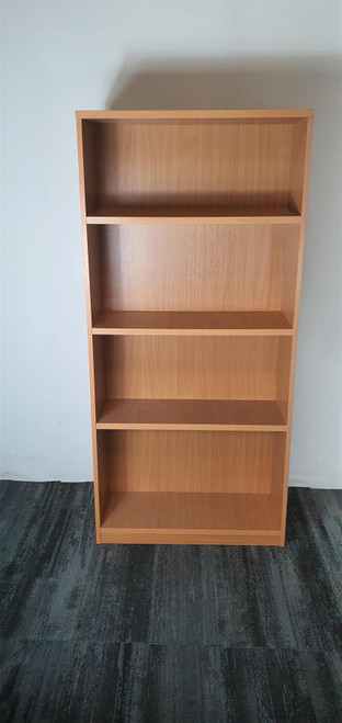 Burnished Oak 4 Shelf Bookcase (57F-5D1-6CC)