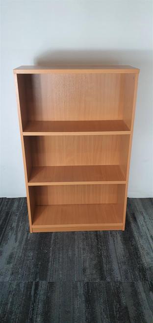 Burnished Oak 3 Shelf Bookcase (DFA-8C7-9D3)
