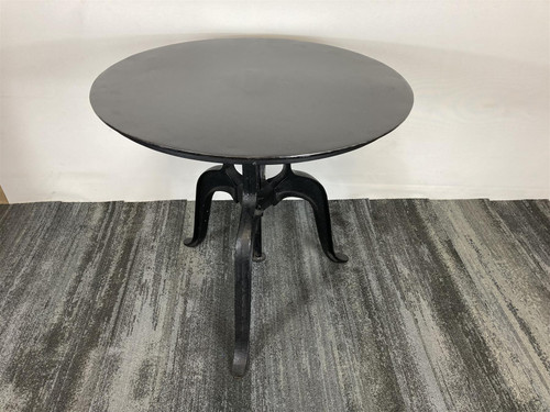 Cast Iron Black Metal Wind Table (F35-991-E88)