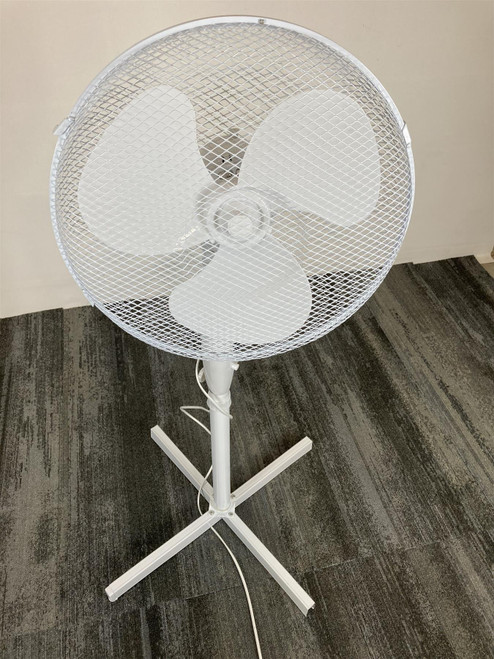 """ELPINE 16"""" STAND Fan COOLING Oscillating White 3 Speeds(98E-F76-BB6)"""