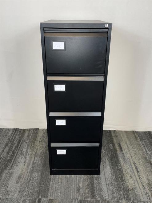 Black 4 Drawer Filing Cabinet (211-9E8-DEF)