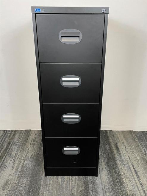 Black Silverline 4 Drawer Filing Cabinet (B8D-54B-2D8)