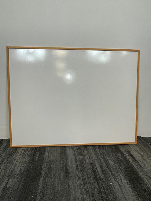 1.2m x 0.9m Wooden Bordered Whiteboard (1F1-D46-CD8)
