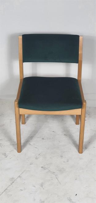 Dark Green Wooden Meeting Chair (EC3-797-559)