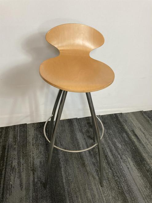 Round Wood Stool (47C-376-820)