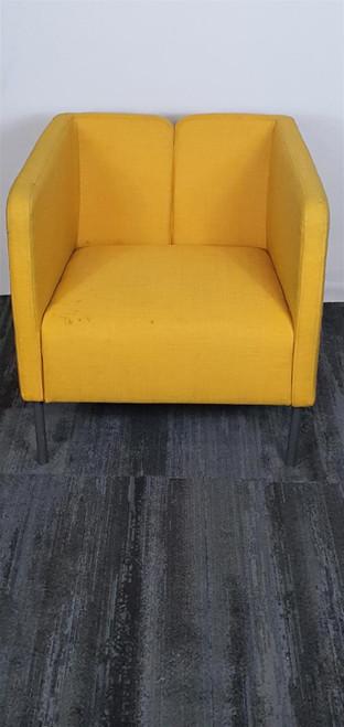 Ikea Ekero Yellow Armchair (1E9-691-25B)
