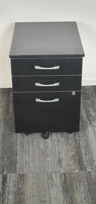 Black 3 Drawers Pedastal (012-83A-42D)