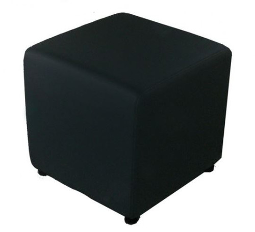 Black Square Fabric Pouffe C98-142-E15)