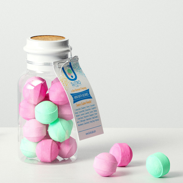 Formula N°1. Mini Bath Bombs x15 (Plastic Reagent Bottle)