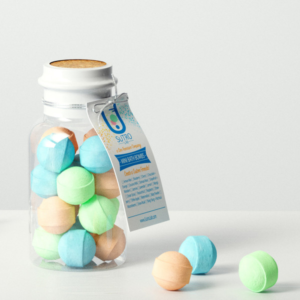 Formula N°4. Mini Bath Bombs x15 (Plastic Reagent Bottle)