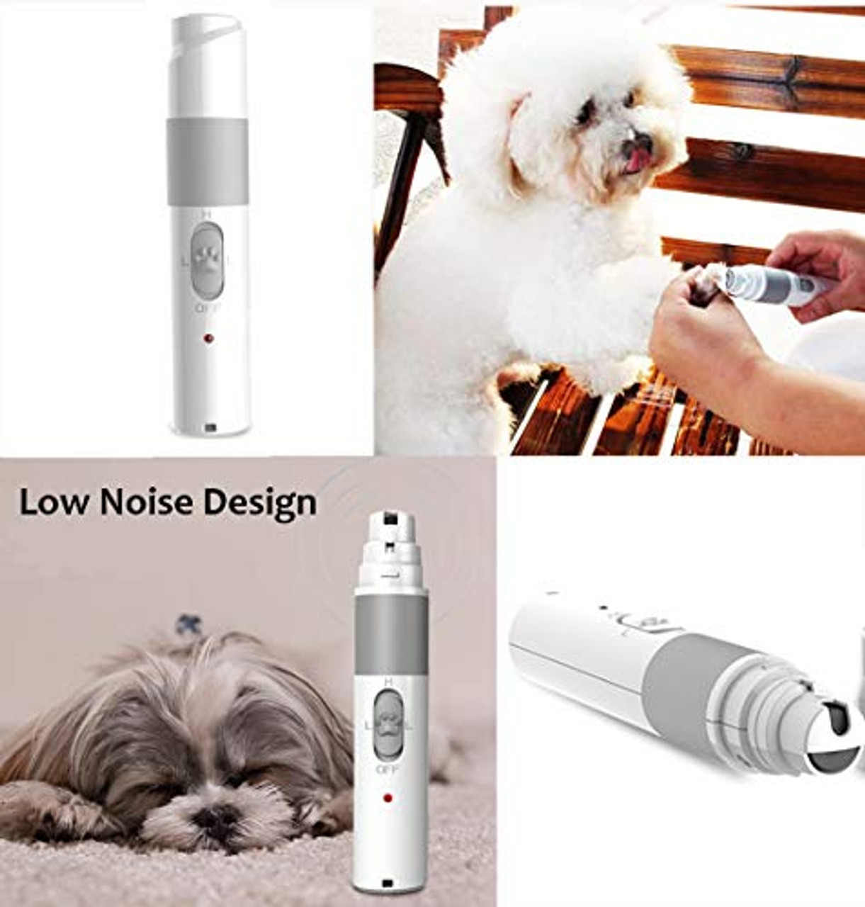 Electric Pet Nail Grinder Pet Paws Trimmer Grooming