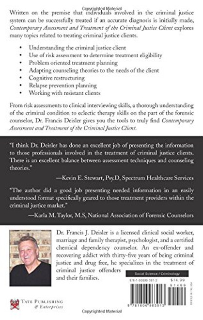 Contemporary Assessment and Treatment of Adult Criminal Justice Clients