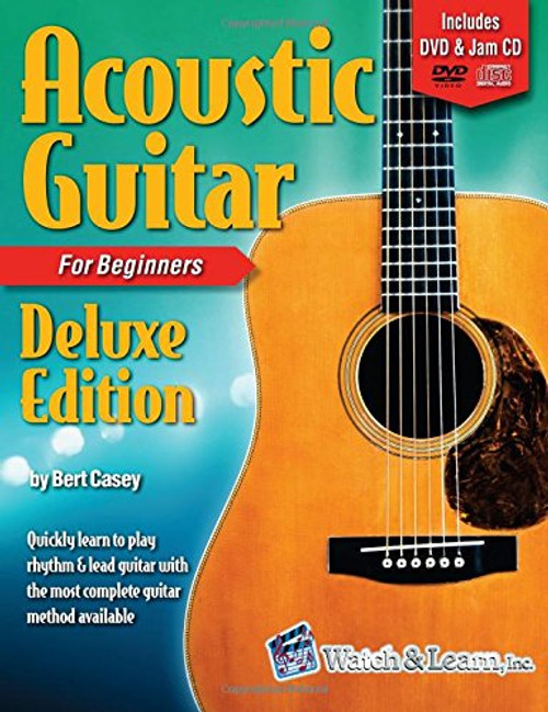 Acoustic Guitar Primer Book for Beginners - Deluxe Edition (DVD/CD)