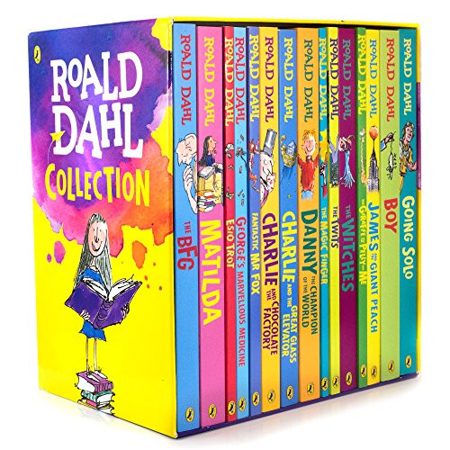 Roald Dahl Collection 15 Fantastic Stories Box Set Including Boy, The BFG, Matilda and Charlie and the Chocolate Factory