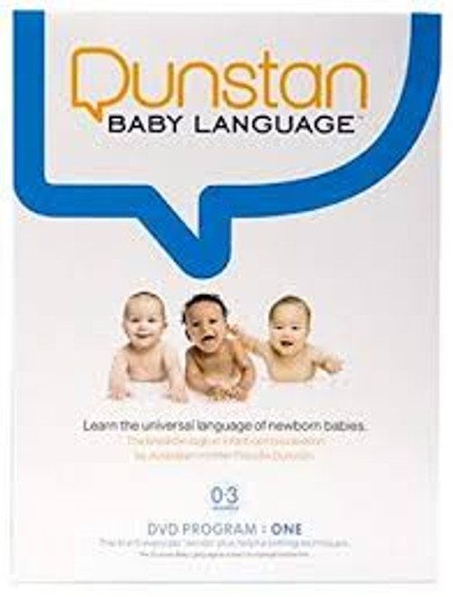 Dunstan Baby Language Publisher: Dunstan Baby  Details: Every newborn (birth to 3 months) communicates using 5 distinct sounds that signal hunger, tiredness, need to burp, lower wind/gas and discomfort. It is baby's natural way to express their physical needs. This DVD teaches you to hear exactly what babies are communicating and as a caregiver or parent, you will be able to interpret the sounds easily. UPC: 689076509954 EAN: 0689076509954