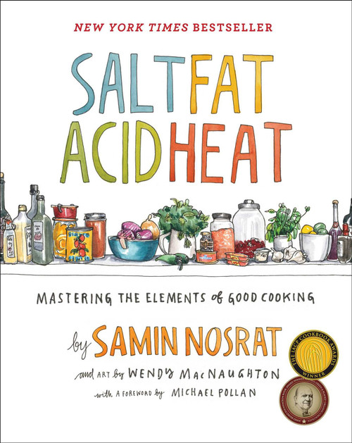 Salt, Fat, Acid, Heat: Mastering the Elements of Good Cooking Author: Samin Nosrat  Brand: Simon & Schuster  Edition: 4th  Features:      Salt, Fat, Acid, Heat Samin Nosrat  Genre: COOKING  Number Of Pages: 480  Publisher: Simon and Schuster  Release Date: 25-04-2017  Details: Now a Netflix series!  New York Times Bestseller and Winner of the 2018 James Beard Award for Best General Cookbook and multiple IACP Cookbook Awards  Named one of the Best Books of 2017 by: NPR, BuzzFeed, The Atlantic, The Washington Post, Chicago Tribune, Rachel Ray Every Day, San Francisco Chronicle, Vice Munchies, Elle.com, Glamour, Eater, Newsday, Minneapolis Star Tribune, The Seattle Times, Tampa Bay Times, Tasting Table, Modern Farmer, Publishers Weekly, and more.