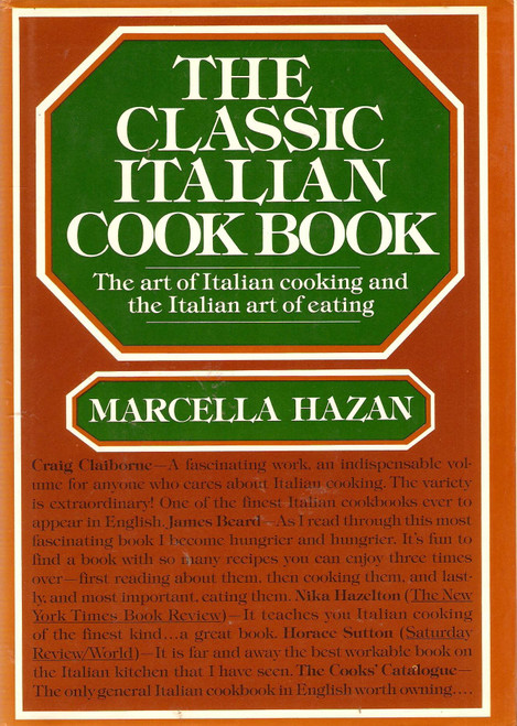 Author: Marcella Hazan  Features:      Italian cookbook, Best selling Cookbook,     Italian Cooking     Marcella Hazan     The Art of Italian Cooking     The Art of Italian Eating  Number Of Pages: 483  Publisher: Alfred A. Knopf  Release Date: 12-02-1976  Details: Describes the techniques for making pasta and provides regional and traditional recipes for antipaste, vegetables, salads, desserts and fruits, and first, second, and cheese courses  EAN: 9780394405100