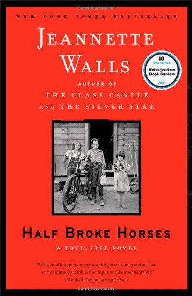 """Author: Jeannette Walls  Brand: Scribner  Edition: Reprint  Features:      Scribner  Genre: FICTION  Number Of Pages: 272  Publisher: Scribner  Release Date: 07-09-2010  Details: """"Those old cows knew trouble was coming before we did.""""  So begins the story of Lily Casey Smith, Jeannette Walls's no-nonsense, resourceful, and spectacularly compelling grandmother. By age six, Lily was helping her father break horses. At fifteen, she left home to teach in a frontier town—riding five hundred miles on her pony, alone, to get to her job. She learned to drive a car and fly a plane. And, with her husband, Jim, she ran a vast ranch in Arizona. She raised two children, one of whom is Jeannette's memorable mother, Rosemary Smith Walls, unforgettably portrayed in The Glass Castle.  Lily survived tornadoes, droughts, floods, the Great Depression, and the most heartbreaking personal tragedy. She bristled at prejudice of all kinds—against women, Native Americans, and anyone else who didn't fit the mold. Rosemary Smith Walls always told Jeannette that she was like her grandmother, and in this true-life novel, Jeannette Walls channels that kindred spirit. Half Broke Horses is Laura Ingalls Wilder for adults, as riveting and dramatic as Isak Dinesen's Out of Africa or Beryl Markham's West with the Night. Destined to become a classic, it will transfix readers everywhere.  EAN: 9781416586296"""