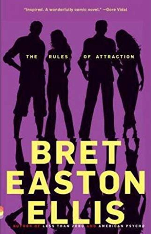 Author: Bret Easton Ellis  Brand: Brand: Vintage  Edition: Reprint  Features:      Used Book in Good Condition  ISBN: 067978148X  Number Of Pages: 288  Publisher: Vintage  Release Date: 1998-06-30  Details: Set at a small, affluent liberal-arts college in New England at the height of the Reagan 80s, The Rules of Attraction is a startlingly funny, kaleidoscopic novel about three students with no plans for the future--or even the present--who become entangled in a curious romantic triangle. Bret Easton Ellis trains his incisive gaze on the kids at self-consciously bohemian Camden College and treats their sexual posturings and agonies with a mixture of acrid hilarity and compassion while exposing the moral vacuum at the center of their lives.  Lauren changes boyfriends every time she changes majors and still pines for Victor who split for Europe months ago and she might or might not be writing anonymous love letter to ambivalent, hard-drinking Sean, a hopeless romantic who only has eyes for Lauren, even if he ends up in bed with half the campus, and Paul, Lauren's ex, forthrightly bisexual and whose passion masks a shrewd pragmatism. They waste time getting wasted, race from Thirsty Thursday Happy Hours to Dressed To Get Screwed parties to drinks at The Edge of the World or The Graveyard. The Rules of Attraction is a poignant, hilarious take on the death of romance.  Note: FIRST PAGE OF TEXT STARTS IN MIDDLE OF A SENTENCE, THIS IS THE WAY IT IS SUPPOSE TO BE & INTENTIONALLY STARTS ON PAGE 13  EAN: 9780679781486