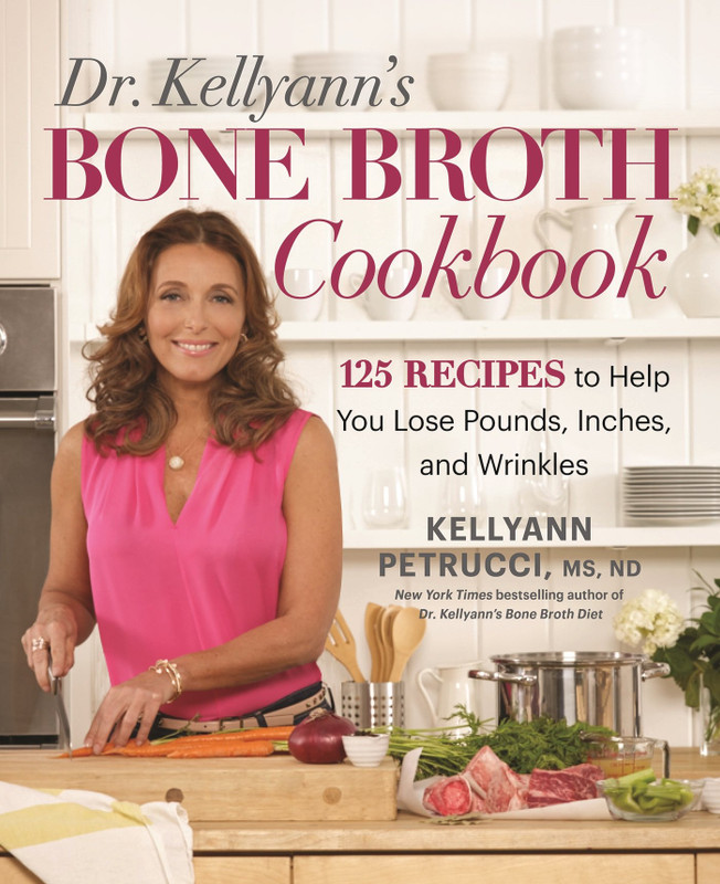"Author: Kellyann Petrucci  Brand: Rodale Books  Edition: 1  Features:      Rodale Books  Number Of Pages: 256  Publisher: Rodale Books  Release Date: 06-12-2016  Details: Become a slimmer, younger, healthier you with more than 125 recipes centered on the latest health craze: bone broth.  Thousands of people have already discovered the powerful promise in the New York Times bestseller Dr. Kellyann's Bone Broth Diet. Weight loss, firmer skin, and boundless energy are just some of the benefits of sipping bone broth. It's why celebrities like Gwyneth Paltrow, Shailene Woodley, Salma Hayek, and Kobe Bryant are hooked on it. And it's why Dr. Kellyann has been recommending a diet rich in bone broth to her patients for years.  In Dr. Kellyann's Bone Broth Cookbook, you'll discover even more recipes to help you burn fat, heal your gut, and tighten your skin. Each meal is as mouth-watering as it is packed with essential nutrients for glowing health—cravings and hunger pains not included. You'll enjoy more than just bone broth with fabulous recipes for beef, poultry, fish, lamb, eggs, and more, plus ""bonus"" recipes for your maintenance phase. They're all designed with easy preparation and fast cooking in mind, so you can spend less time in the kitchen and more time enjoying your newfound vibrancy.  Dr. Kellyann's Bone Broth Cookbook is your ticket to slimming down, looking younger, and ending cravings for good.  EAN: 9781623368395"