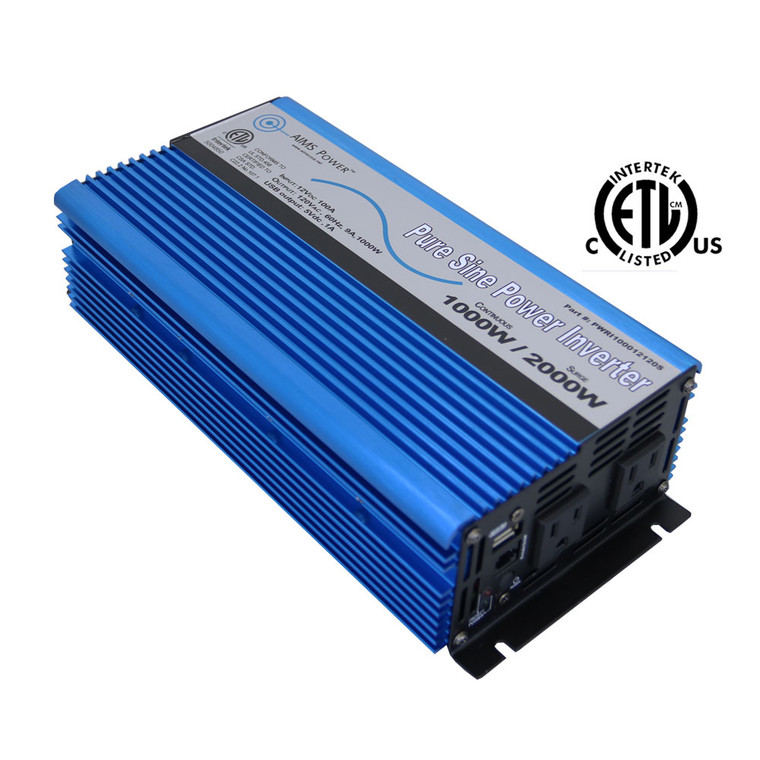 AIMS Power 1000 Watt Pure Sine Inverter