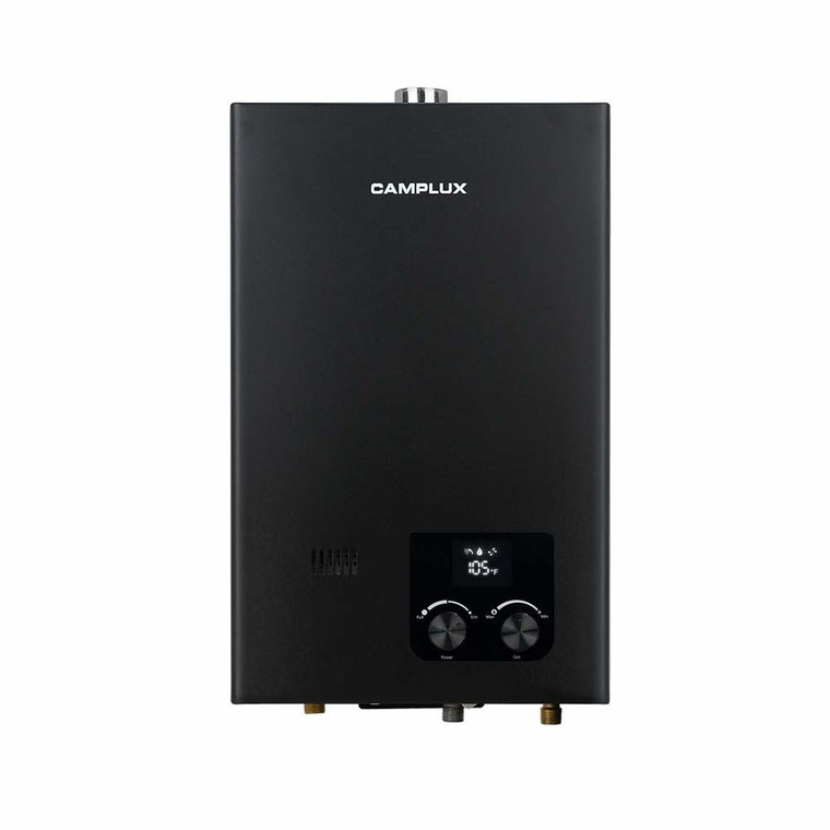 Camplux 10L 2.64 GPM High Capacity Tankless Natural Gas Residential Water Heater - Black
