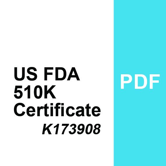 US FDA Certificate 510K - K173908 PDF