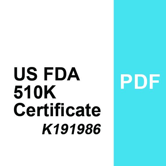 US FDA Certificate 510K - K191986 PDF