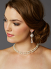 Pearl and Filigree 2-Row Bridal Back Necklace