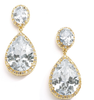 CZ Pear-Shaped Drop Bridal - Gold