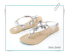 Bella Belle Jewel Wedding Sandals