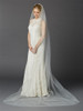 Cathedral Length Single Layer Cut Edge Bridal Veil- Ivory