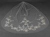 Silver and Gold Embroidered Floral Lace Cathedral Veil