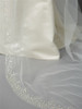 Cathedral Wedding Veil with Dramatic Crystal, Pearl and Beaded Edging