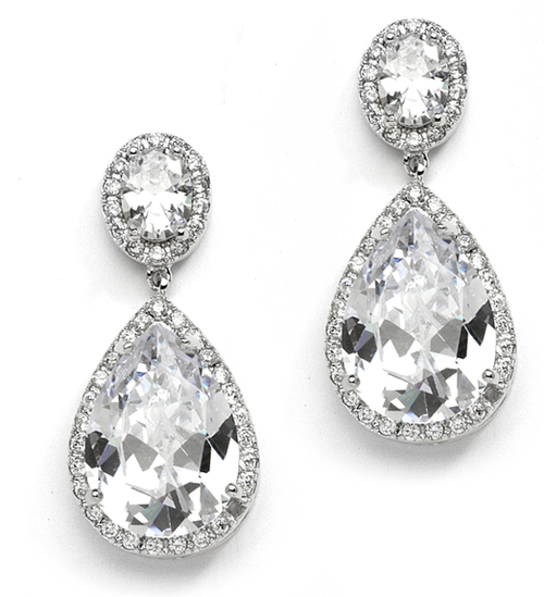 CZ Petite Drop Earrings