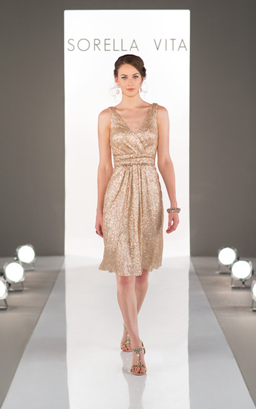 Sequin Bridesmaid Dress Style 8685