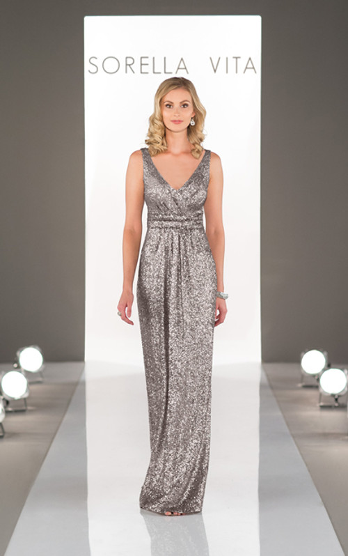 Sequin Bridesmaid Dress Style 8686