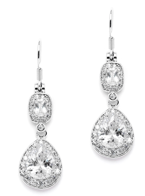 Graceful Pears and Delicate Emerald Cut Dangles