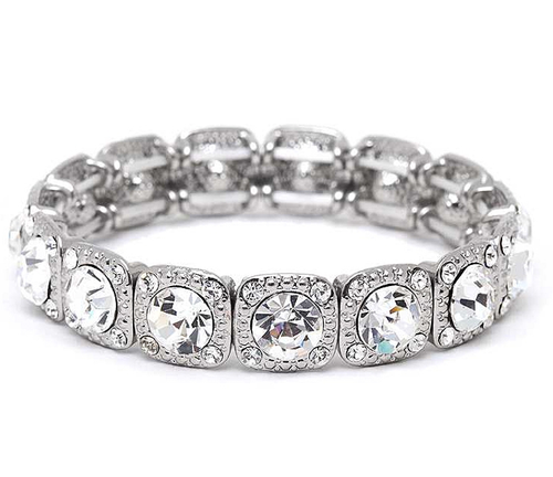 Stretch Bracelet with Solitaires